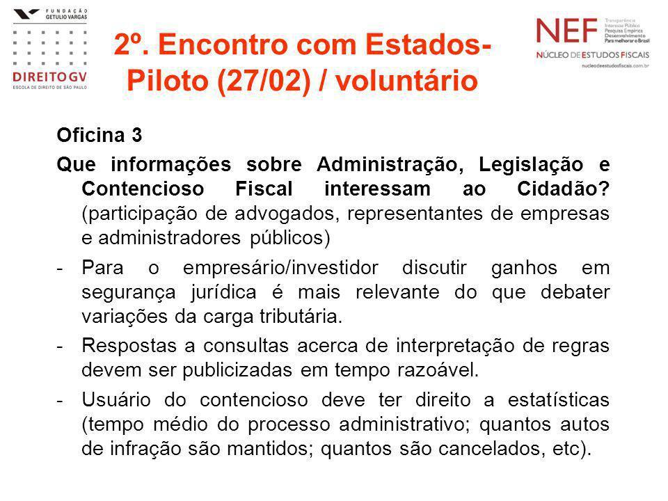 2º. Encontro com Estados-Piloto (27/02) / voluntário
