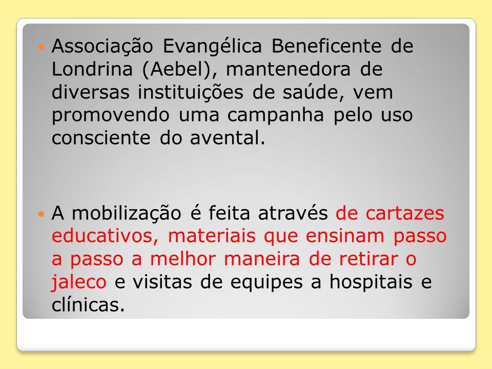 Associação Evangélica Beneficente de Londrina (Aebel), mantenedora de diversas instituições de saúde, vem promovendo uma campanha pelo uso consciente do avental.