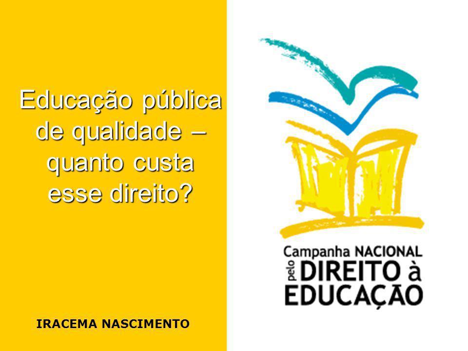 Educação pública de qualidade – quanto custa esse direito