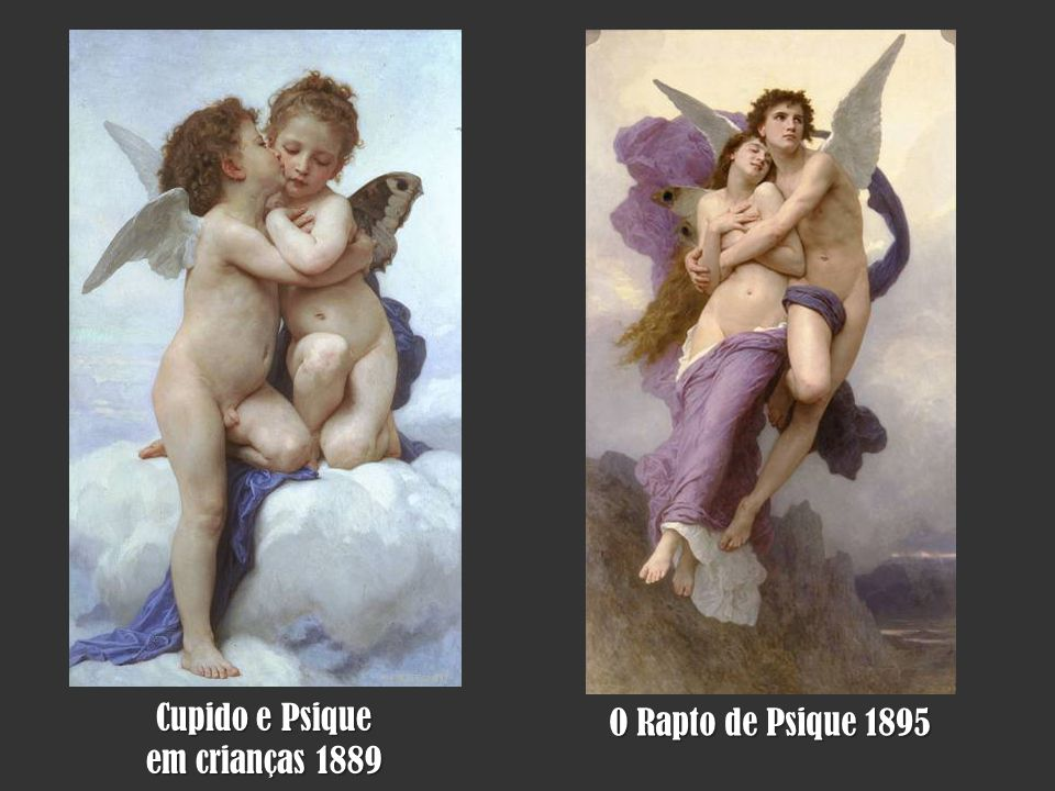 Cupido e Psique em crianças 1889 O Rapto de Psique 1895