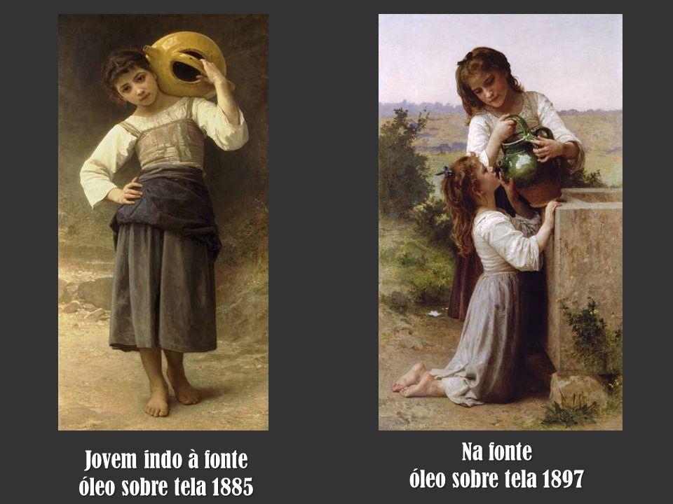 Na fonte óleo sobre tela 1897 Jovem indo à fonte óleo sobre tela 1885