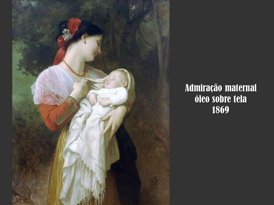 Admiração maternal óleo sobre tela 1869