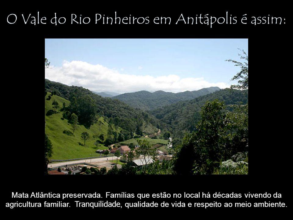 O Vale do Rio Pinheiros em Anitápolis é assim: