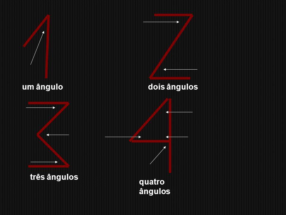 um ângulo dois ângulos três ângulos quatro ângulos