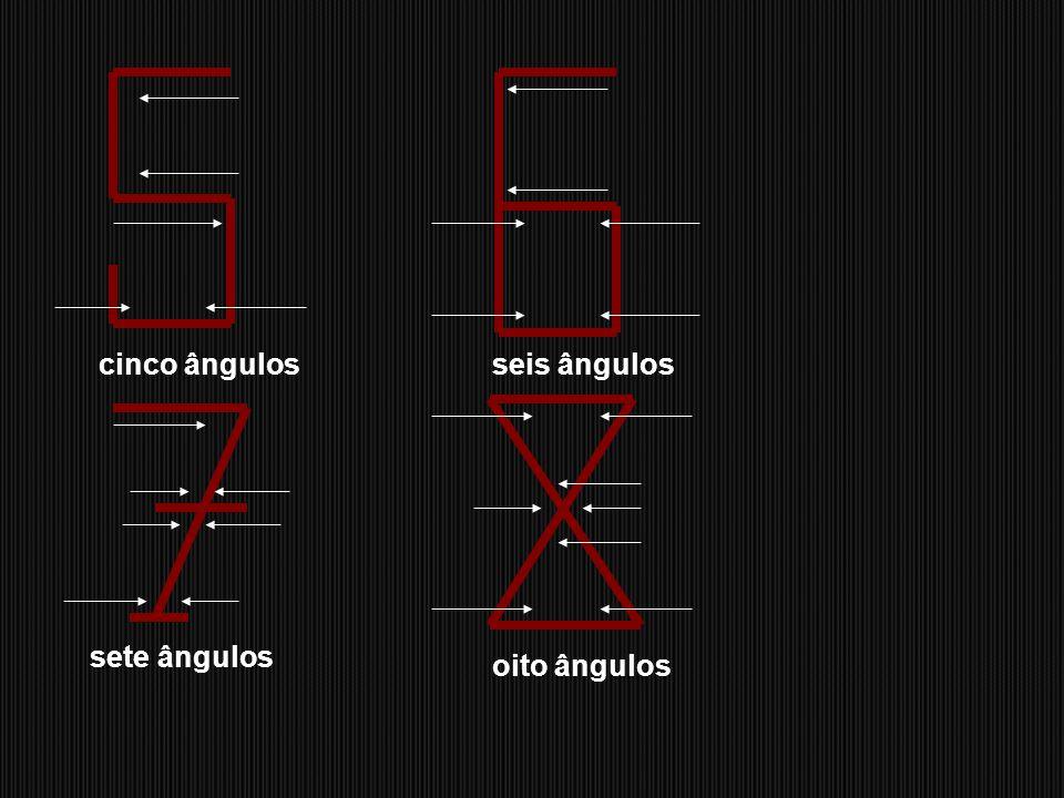 cinco ângulos seis ângulos sete ângulos oito ângulos