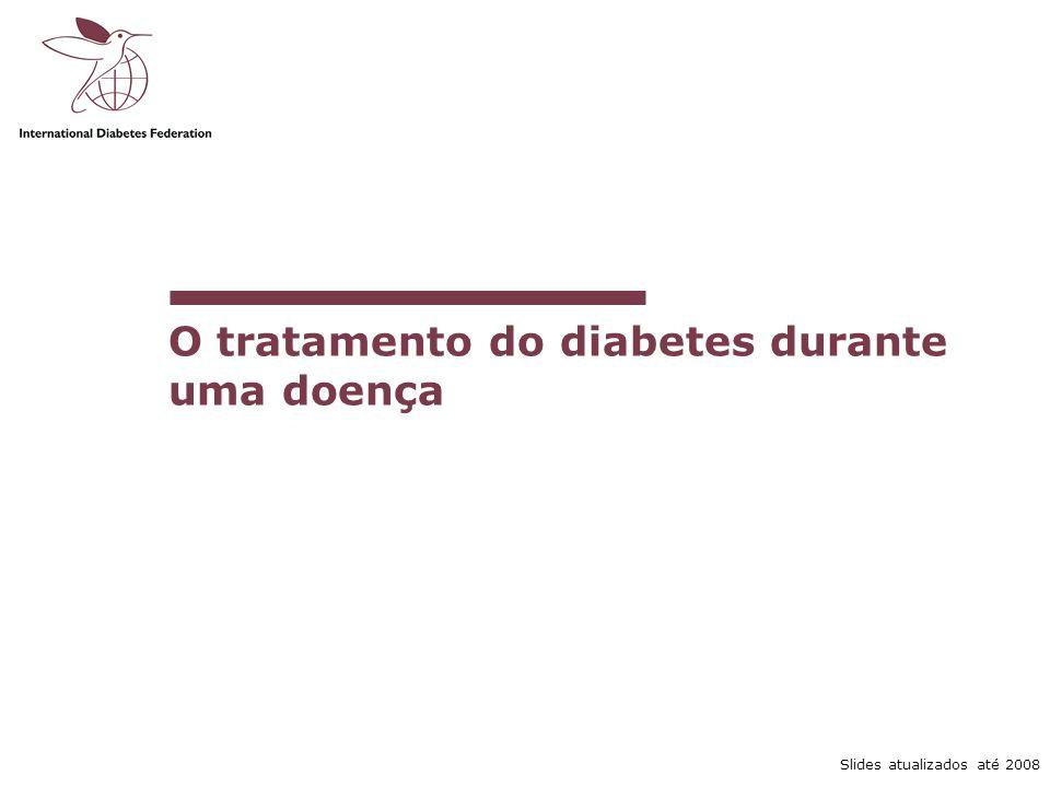 O tratamento do diabetes durante uma doença