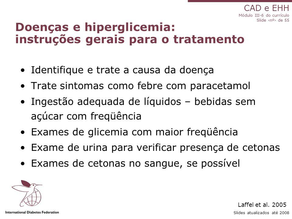 Doenças e hiperglicemia: instruções gerais para o tratamento