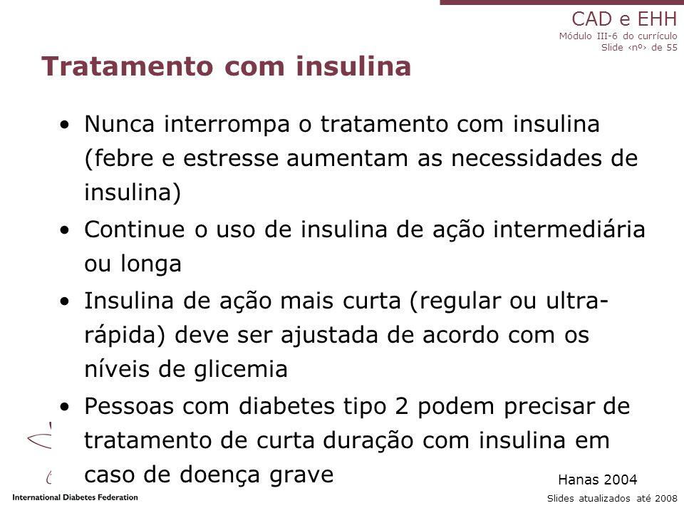 Tratamento com insulina