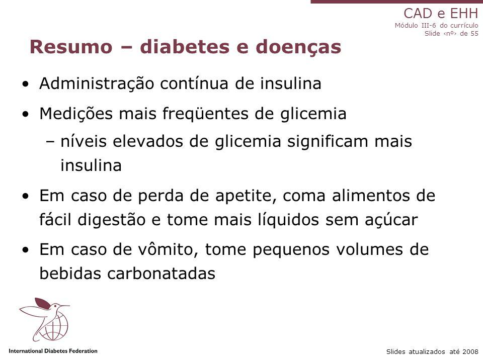 Resumo – diabetes e doenças