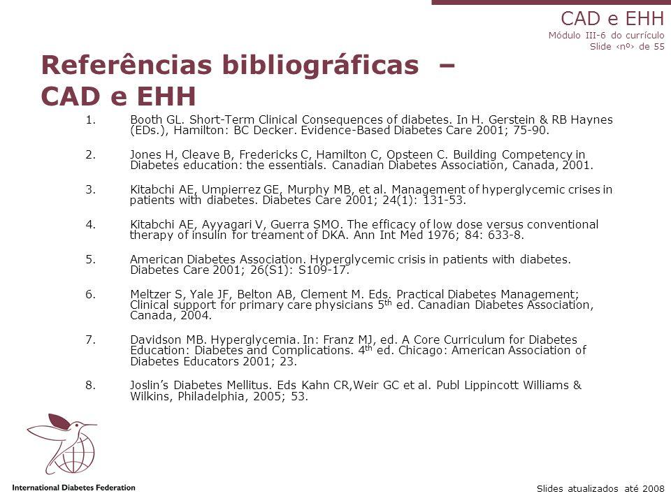 Referências bibliográficas – CAD e EHH