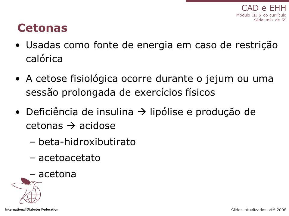 Cetonas Usadas como fonte de energia em caso de restrição calórica