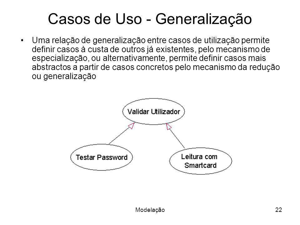 Casos de Uso - Generalização