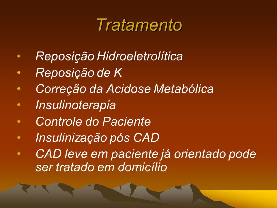Tratamento Reposição Hidroeletrolítica Reposição de K