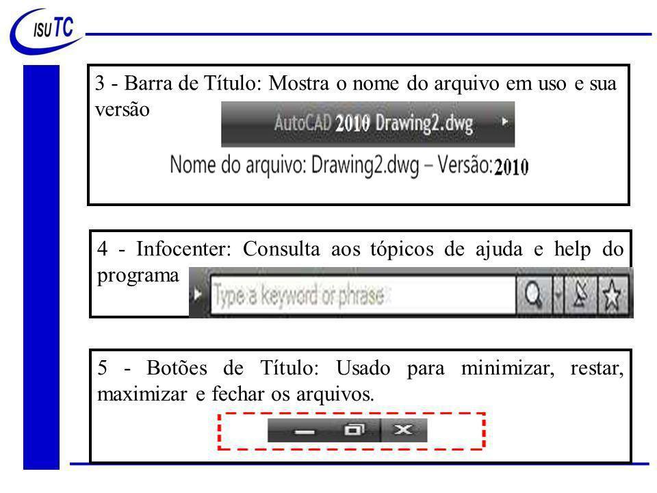 3 - Barra de Título: Mostra o nome do arquivo em uso e sua versão