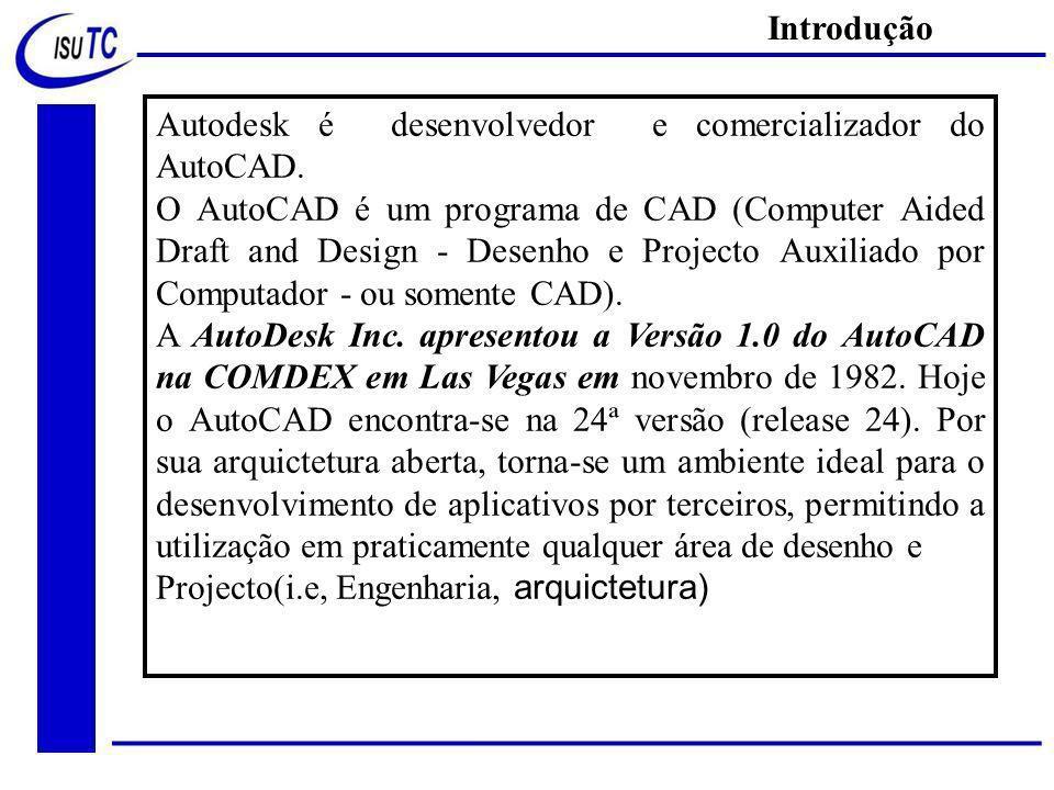 Introdução Autodesk é desenvolvedor e comercializador do AutoCAD.