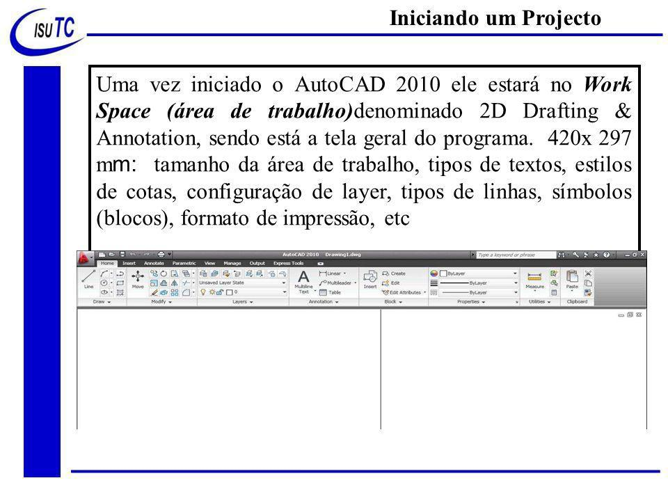 Iniciando um Projecto
