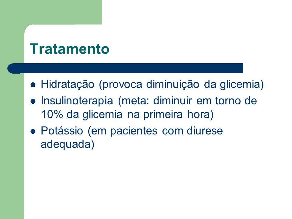 Tratamento Hidratação (provoca diminuição da glicemia)