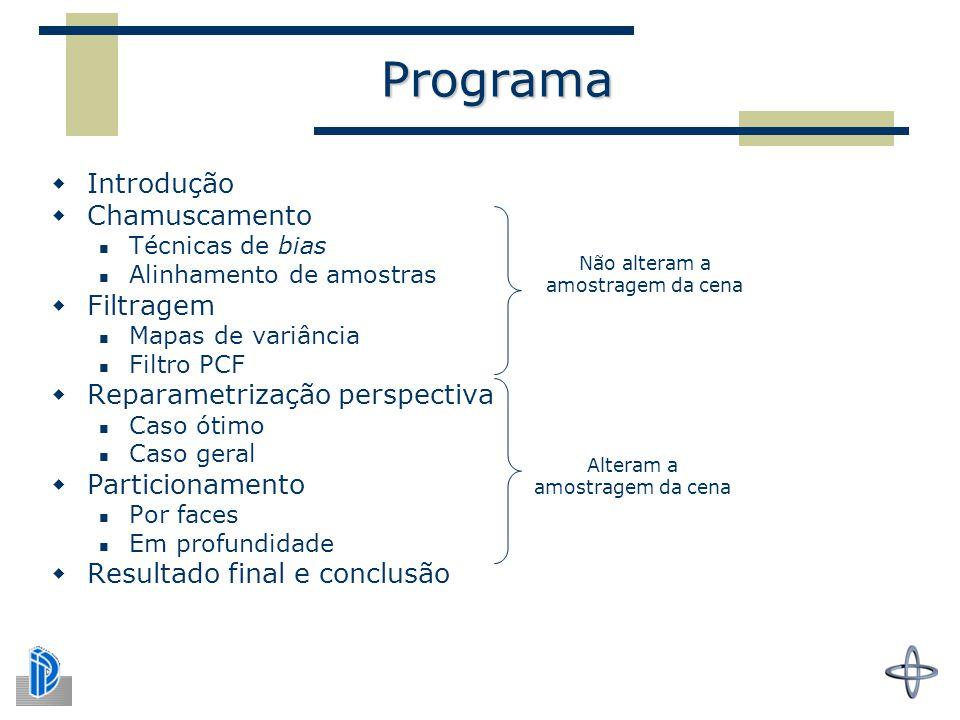 Programa Introdução Chamuscamento Filtragem