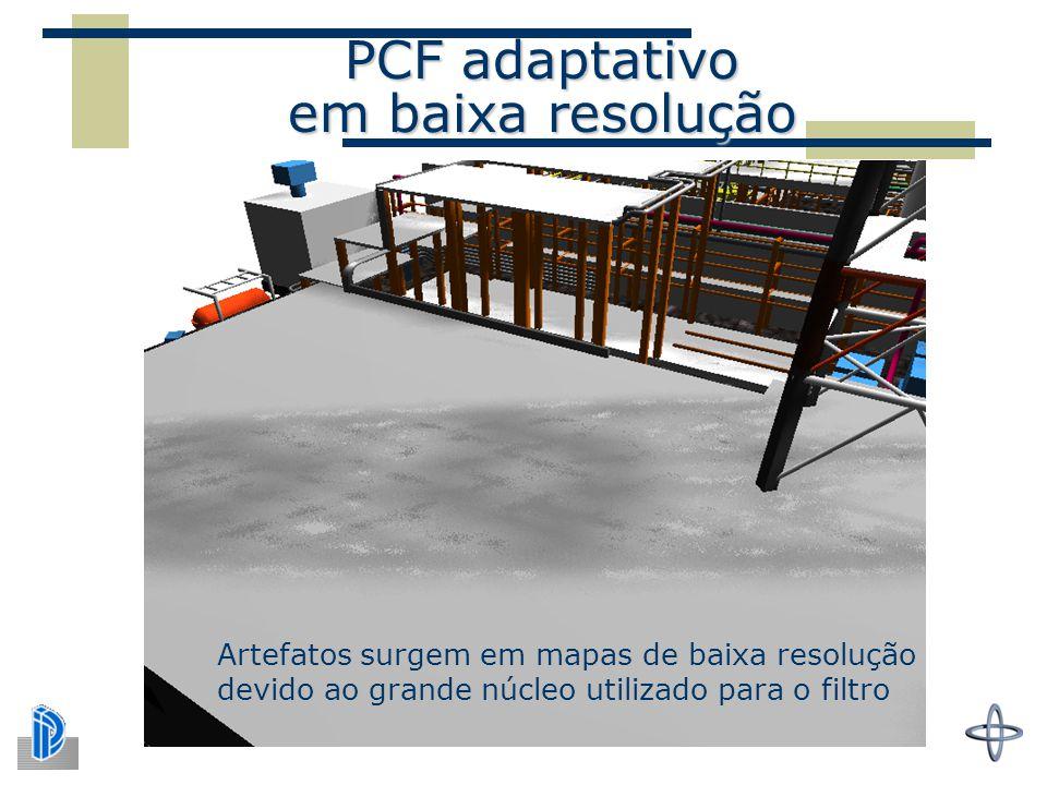 PCF adaptativo em baixa resolução