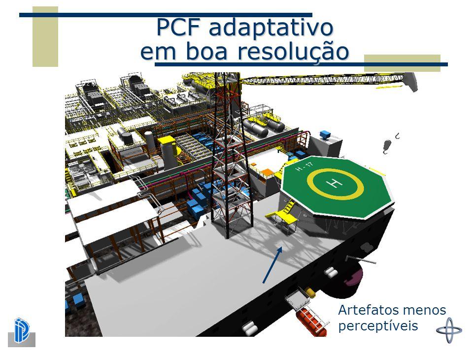 PCF adaptativo em boa resolução
