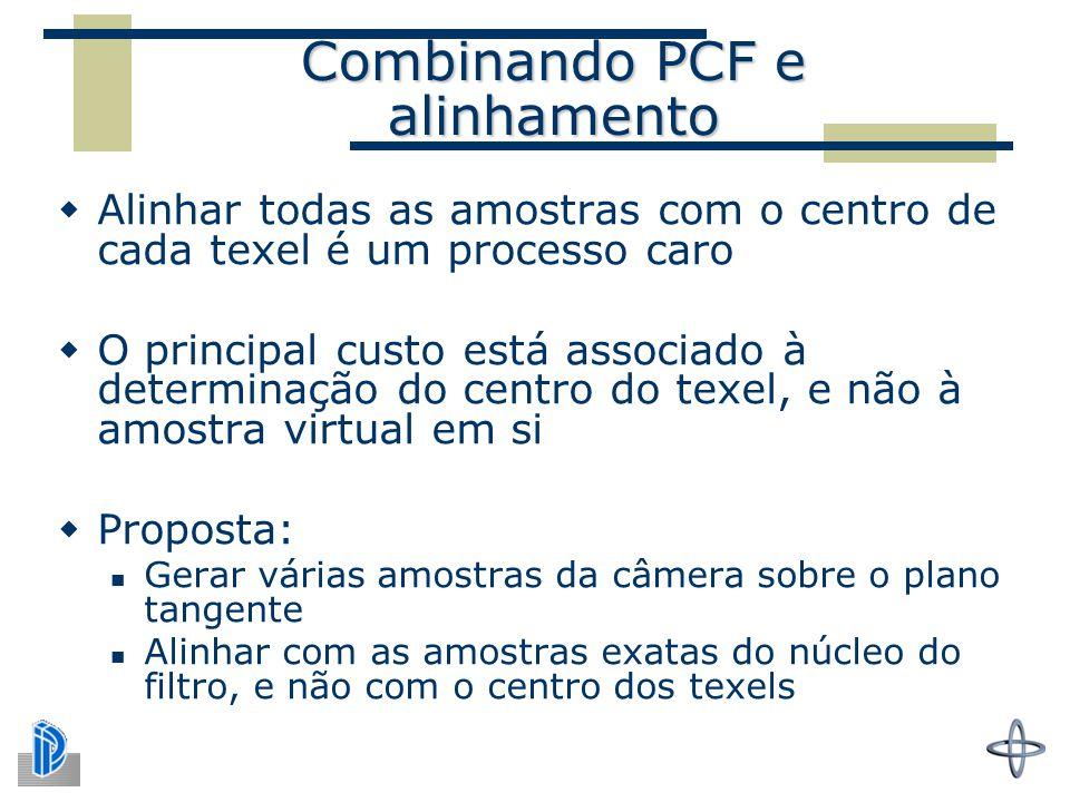 Combinando PCF e alinhamento