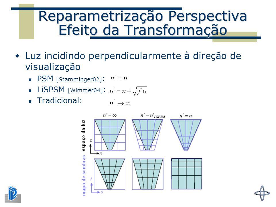 Reparametrização Perspectiva Efeito da Transformação