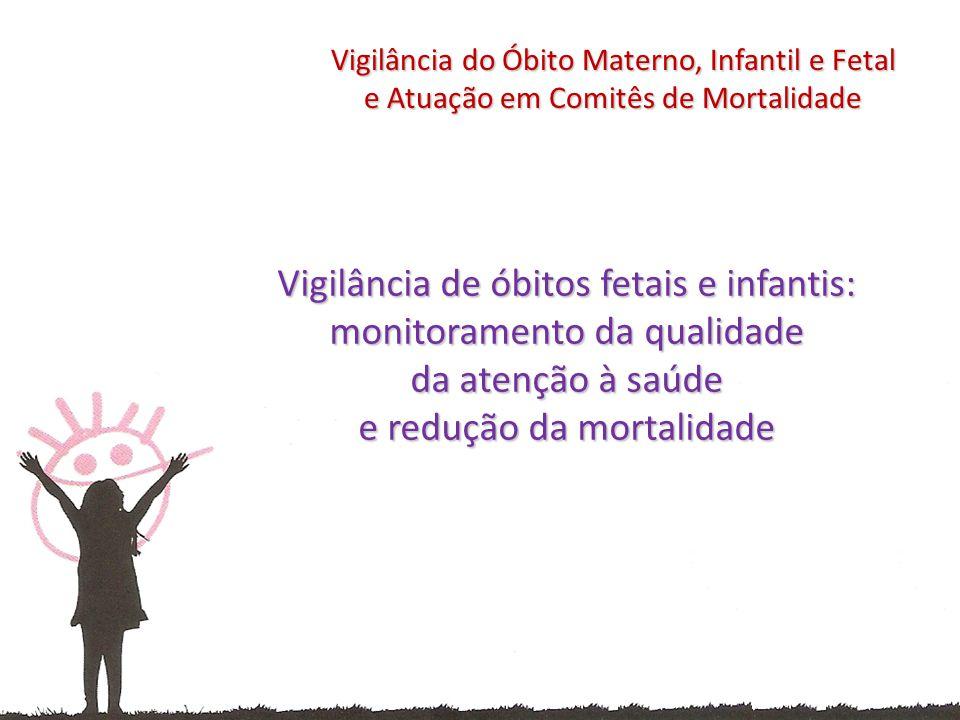 Vigilância de óbitos fetais e infantis: monitoramento da qualidade