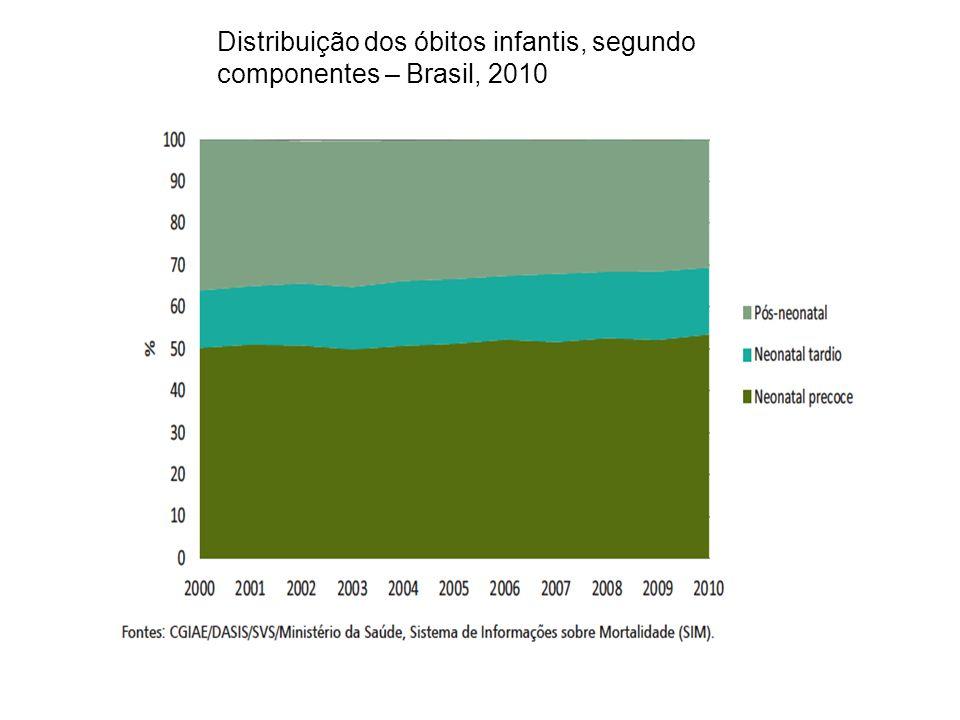 Distribuição dos óbitos infantis, segundo componentes – Brasil, 2010