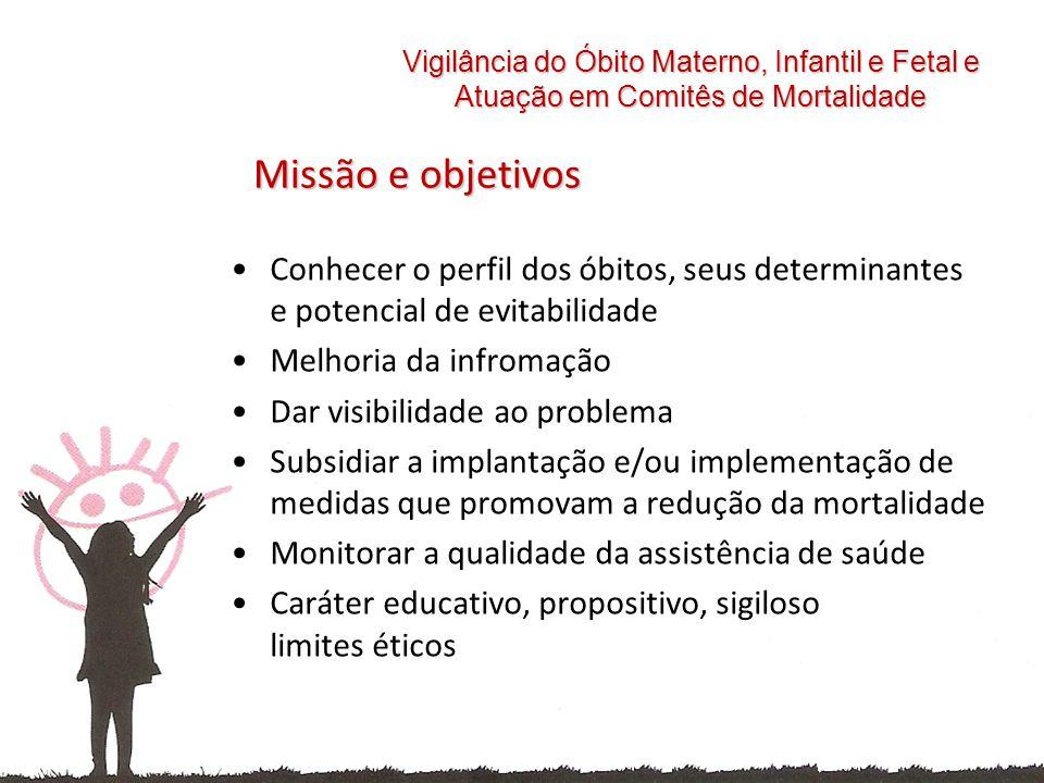 Vigilância do Óbito Materno, Infantil e Fetal e Atuação em Comitês de Mortalidade