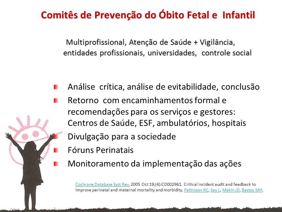 Comitês de Prevenção do Óbito Fetal e Infantil
