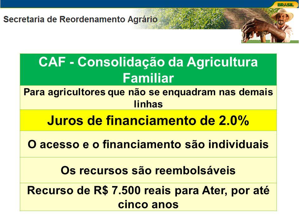 CAF - Consolidação da Agricultura Familiar