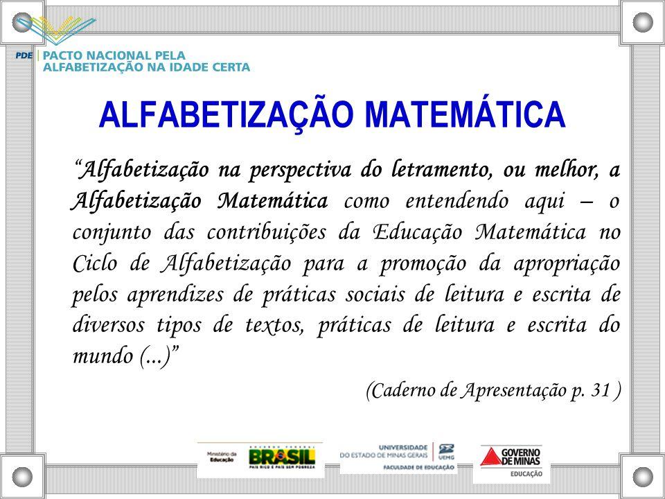 ALFABETIZAÇÃO MATEMÁTICA
