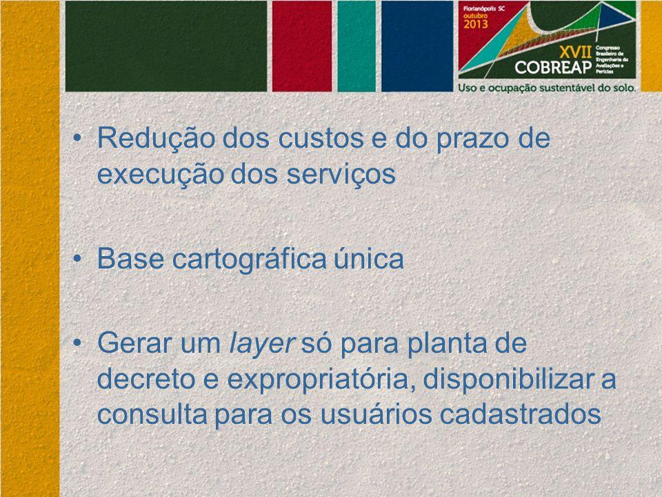 Redução dos custos e do prazo de execução dos serviços