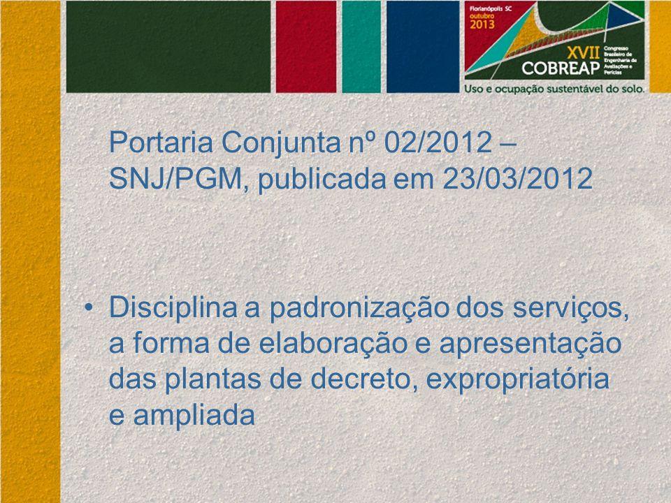 Portaria Conjunta nº 02/2012 – SNJ/PGM, publicada em 23/03/2012