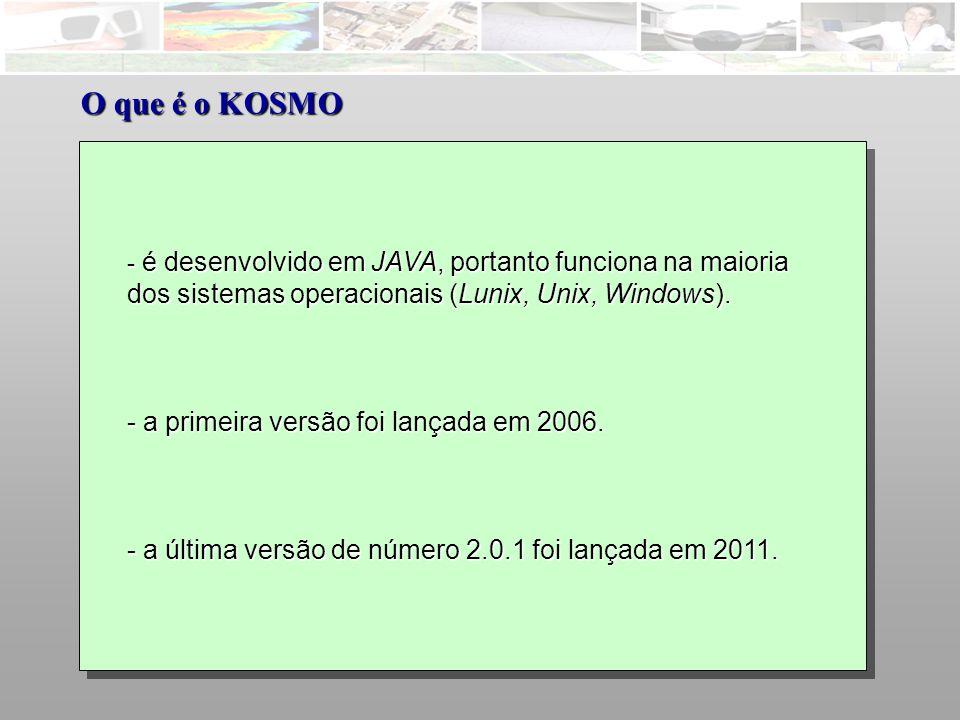 O que é o KOSMO dos sistemas operacionais (Lunix, Unix, Windows).