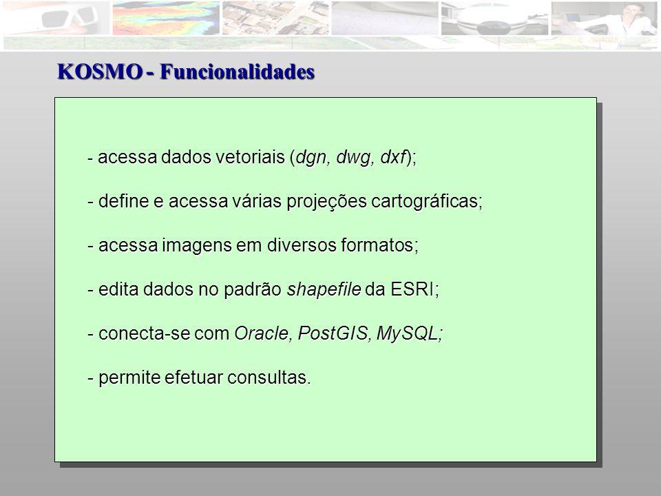 KOSMO - Funcionalidades