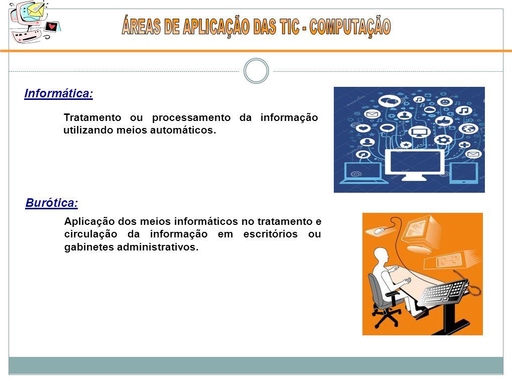 ÁREAS DE APLICAÇÃO DAS TIC - COMPUTAÇÃO