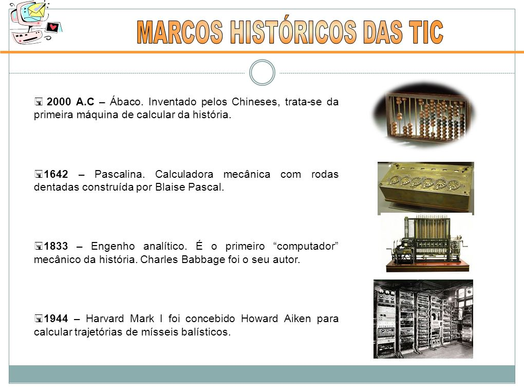 MARCOS HISTÓRICOS DAS TIC