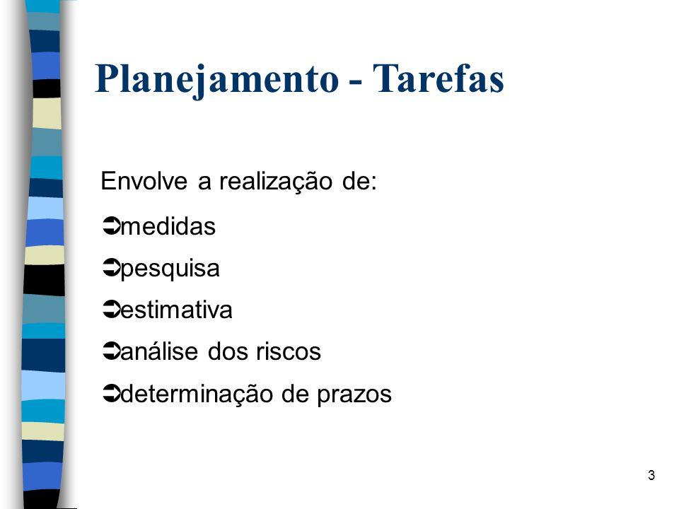 Planejamento - Tarefas