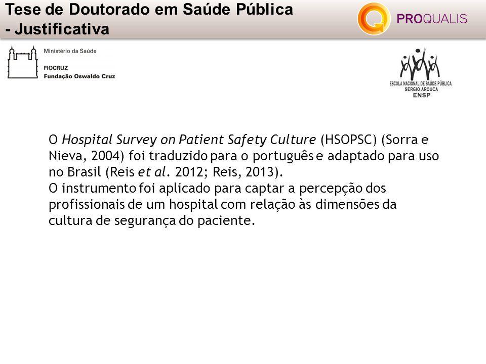 Tese de Doutorado em Saúde Pública - Justificativa