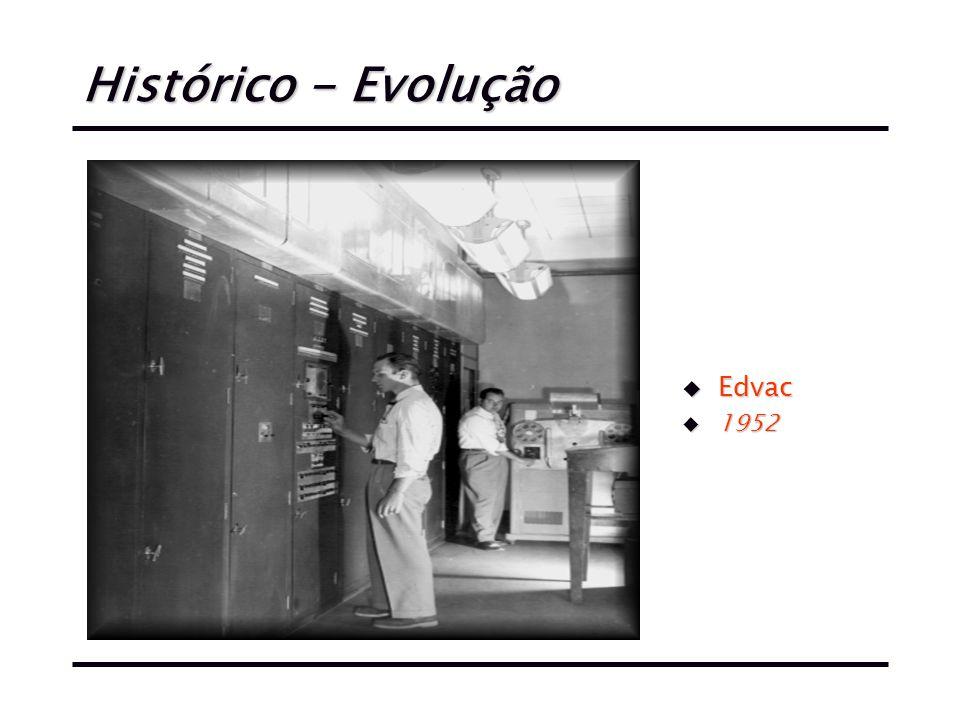 Histórico - Evolução Edvac 1952