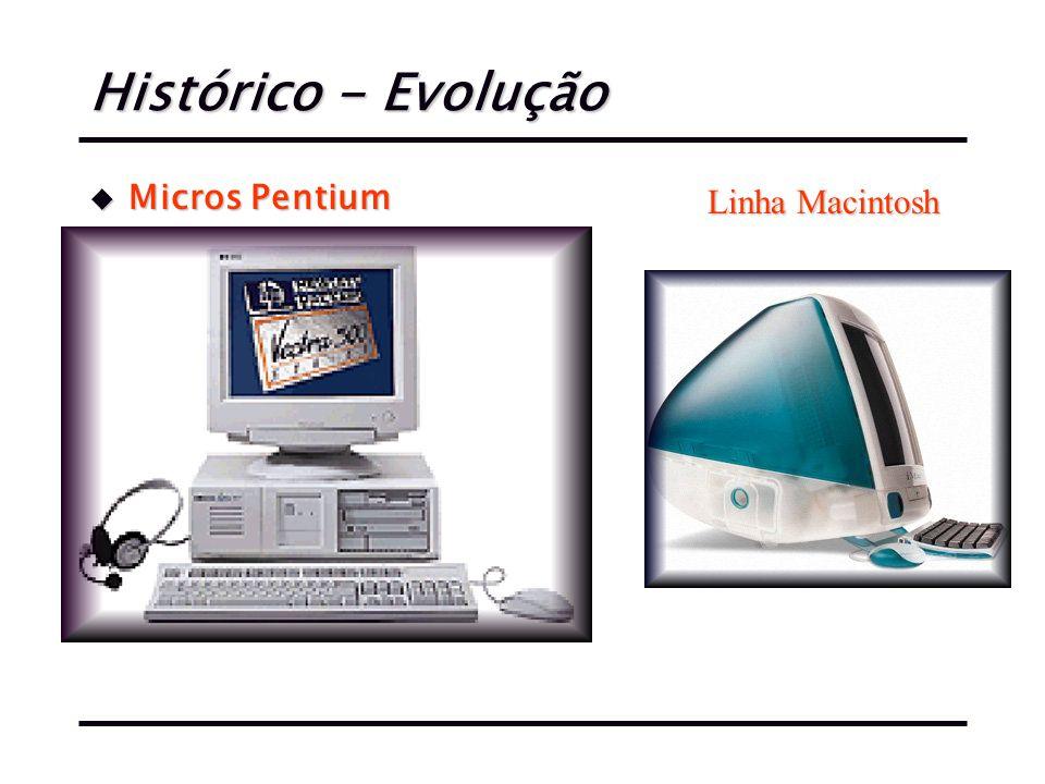 Histórico - Evolução Micros Pentium Linha Macintosh