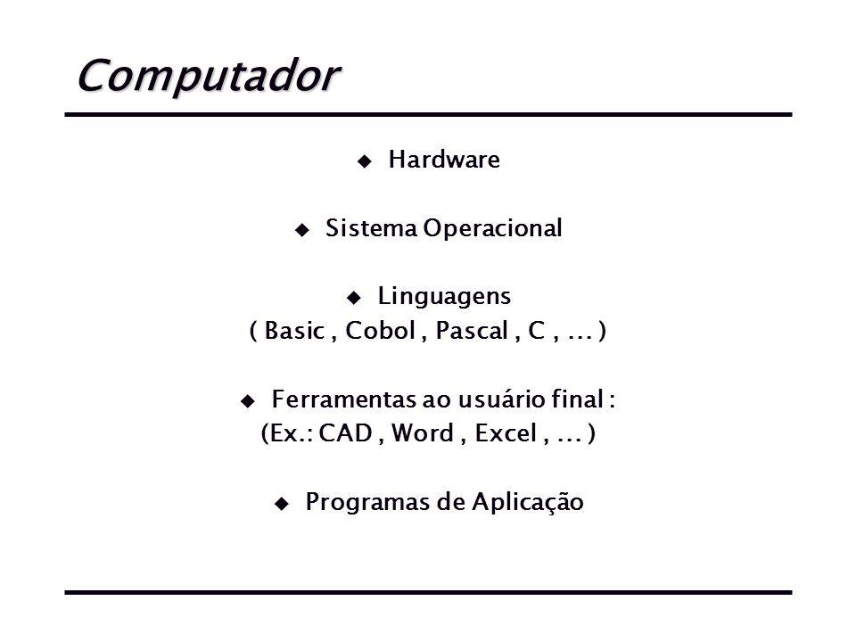 Ferramentas ao usuário final : Programas de Aplicação