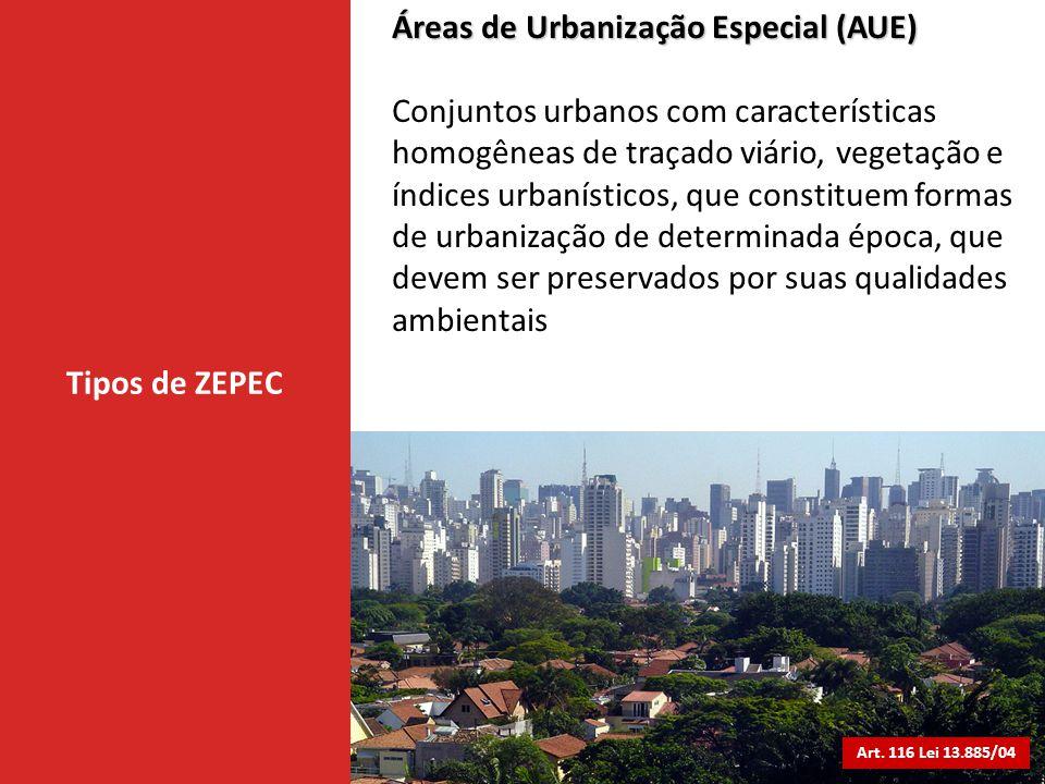 Áreas de Urbanização Especial (AUE)