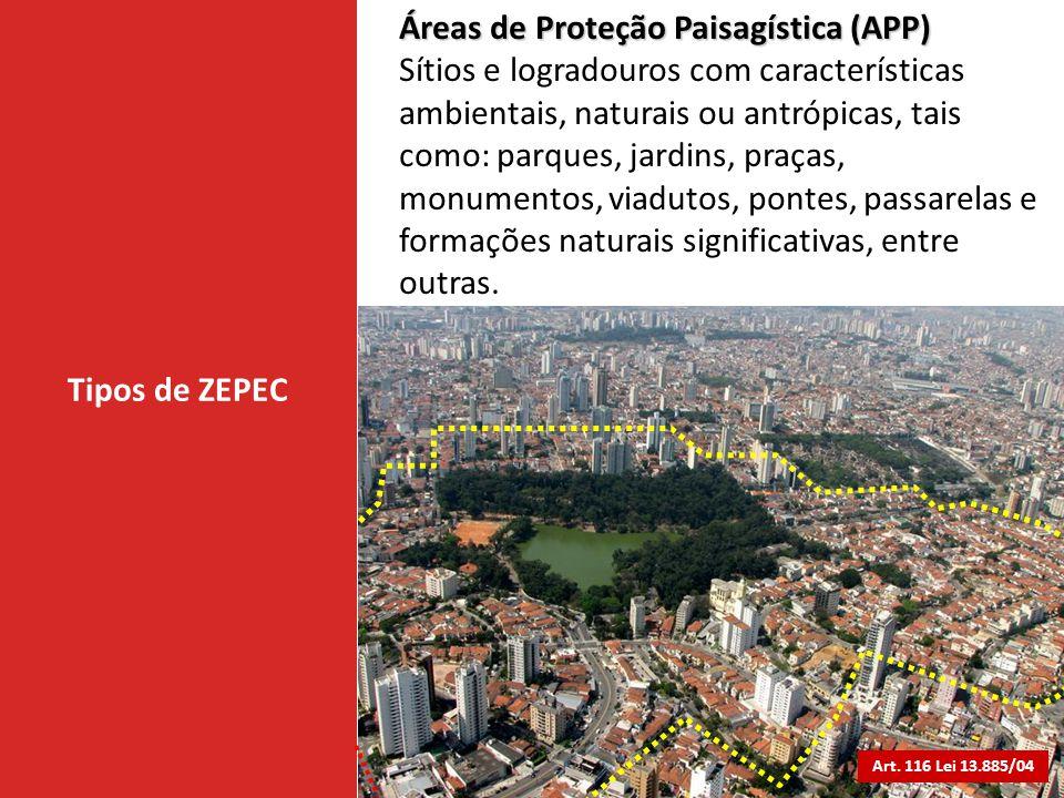 Áreas de Proteção Paisagística (APP)
