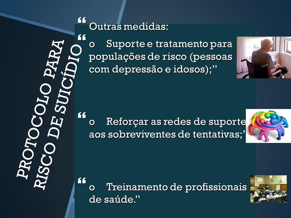 PROTOCOLO PARA RISCO DE SUICÍDIO