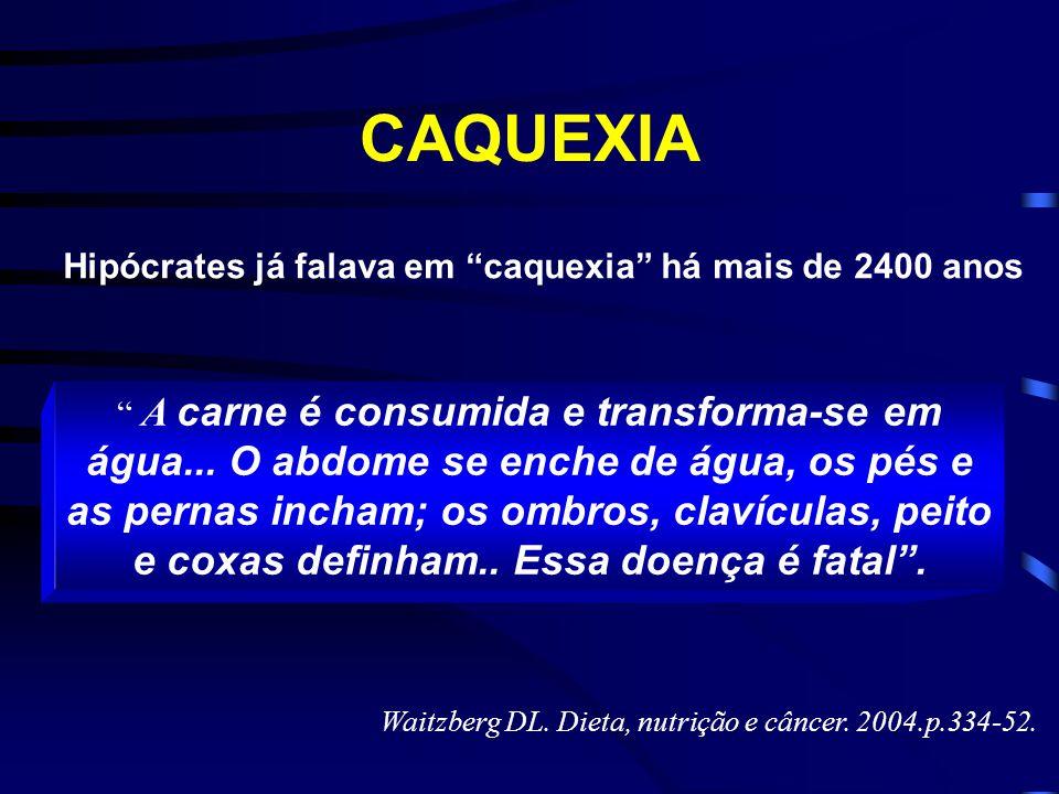 Hipócrates já falava em caquexia há mais de 2400 anos