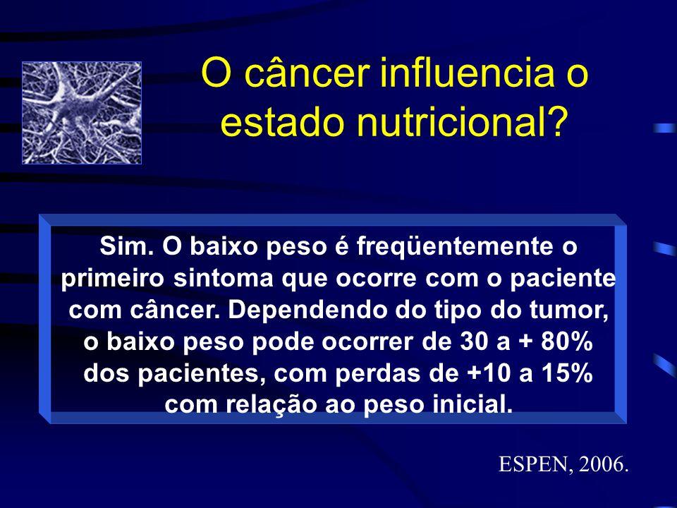 O câncer influencia o estado nutricional