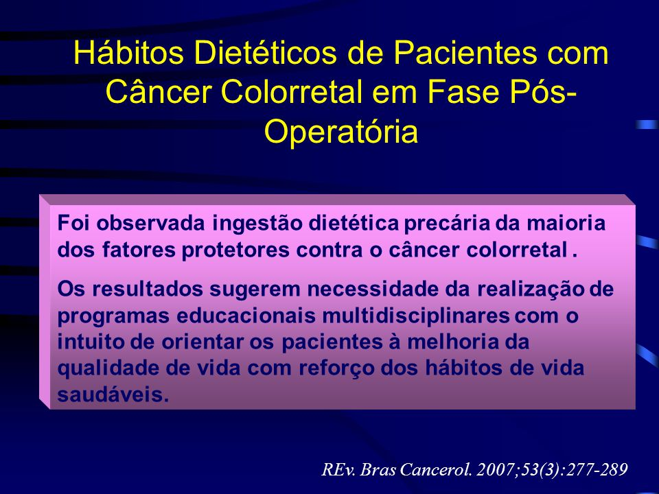 REv. Bras Cancerol. 2007;53(3):277-289