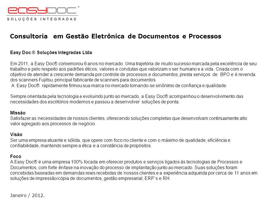 Consultoria em Gestão Eletrônica de Documentos e Processos